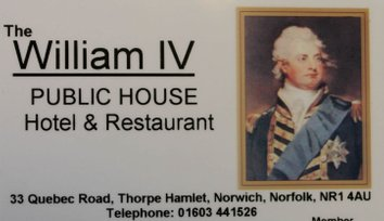 William IV Pub in Norwich loyalty Card  scheme